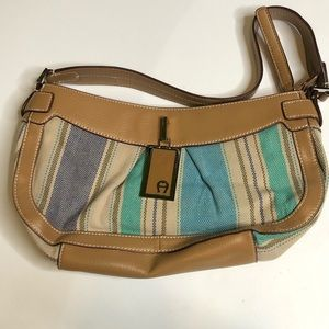 Etienne Aigner Striped Purse